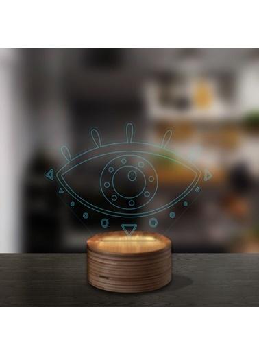 Artikel Göz 3D LED Gece Lambası Renkli